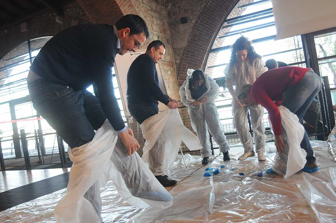 Incentivazione - Active Painting - preparazione - Team Building Verona